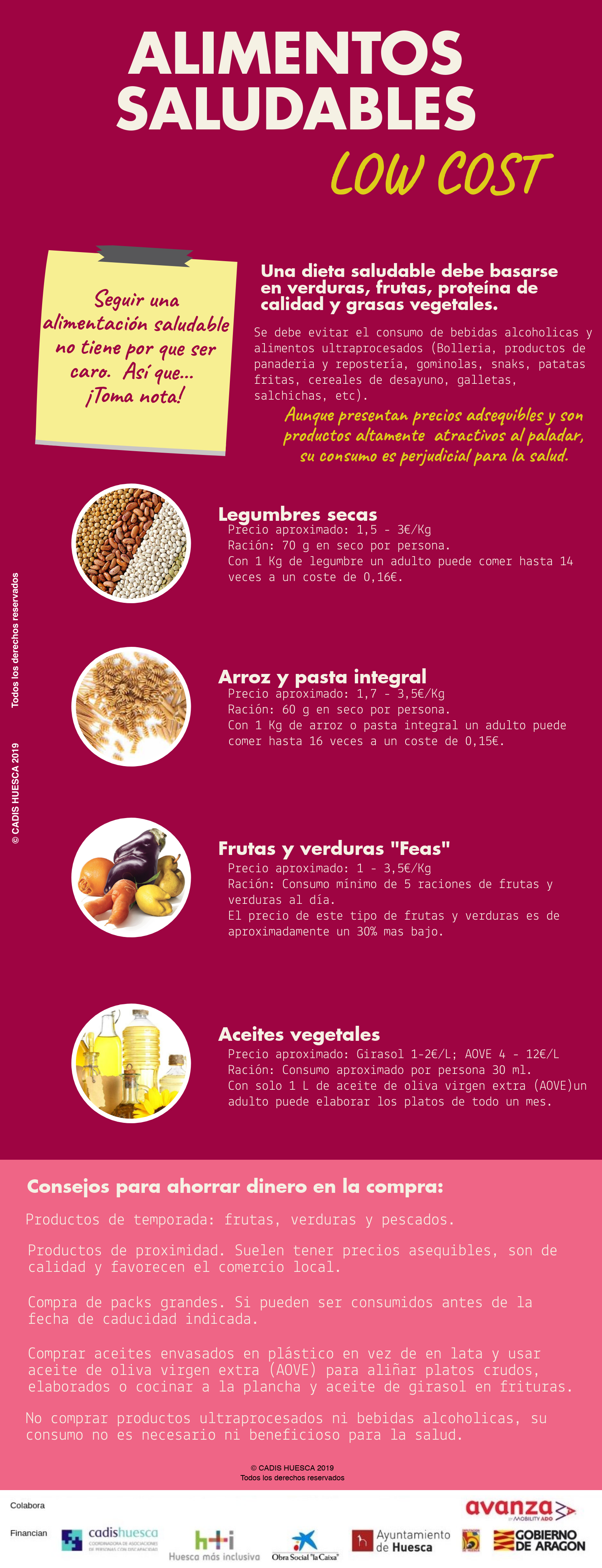 6. Alimentos saludables Low cost
